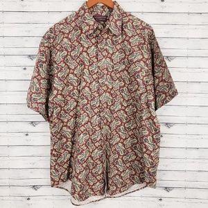 Roundtree & Yorke | Vintage 90s Paisley Shirt Sz L